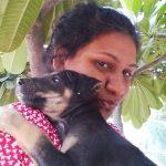 Prabha Hugging street dog